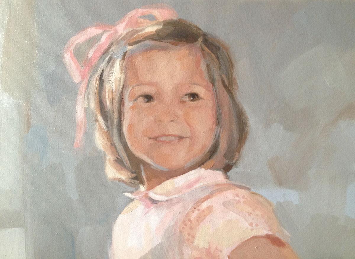 Detalle retrato de Fernanda - Carmen Campos Guereta