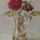 Dos rosas marchitando